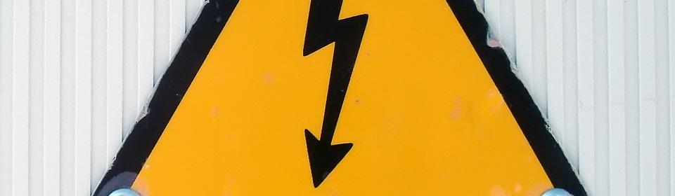 waarschuwingsbord stroomstoring